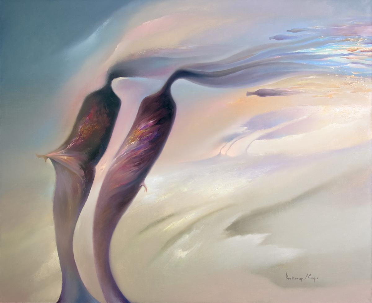 Ветер (90х110) холст, масло