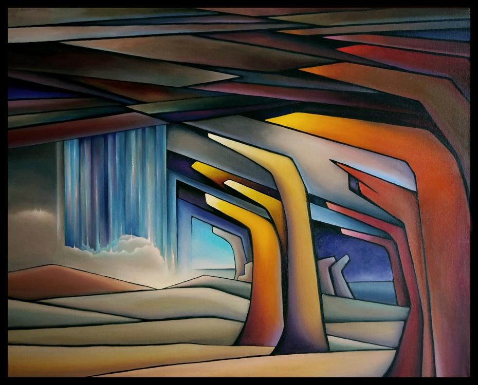 Каменное небо (80х100) холст, масло