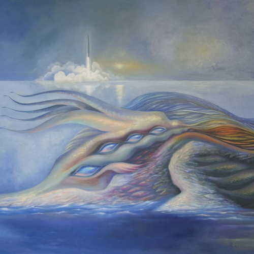 Leviathan (80х100) canvas, oil