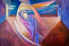 Bird Syrin (100х120) canvas, oil